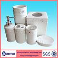 Color blanco 6 piezas de cerámica de accesoriosdebaño/cepillo de dientes titular de set de baño