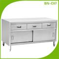 الفولاذ المقاوم للصدأ التجارية bn-c07 cosbao خزائن المطبخ