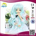 2014 nuevo producto de alta temperatura de la fibra de pelucas para muñecas