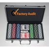 Aluminium Poker Chip Case casino chip set aluminum case - Fits 100 Chips