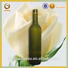 Ucuz şarap şişeleri/750ml don cam şişe/buzlanma şarap cam şişe