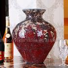 Crackle Red Mosaic Flower Vase For Home Decoration