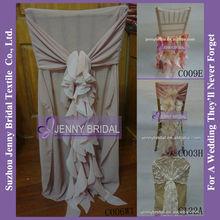 C006W1 Fancy Ruffled Chair Sashes Cheap Wedding Chair Covers