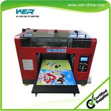 plastic, pvc, acrylic, mdf, dibond, glass, ceramic, etc. printing a3 uv plotter