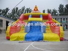 Used commercial inflatable Water Slides/Rental Big Rooster slide for sale/Double lane slide