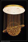 modern gold color luxury crystal chandelier lighting lamp for living room