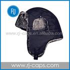 fashion hot sell custom warm ear winter black hat