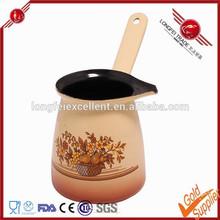 Food grade unbreakable microwave enamel steel coffee pot