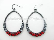 red stone morden big beautiful drop earrings