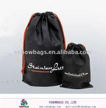 Cotton drawstring shoe bags E-PS047B