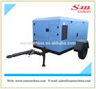 160kw electric mobile screw air compressor 8 bar
