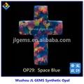 bella blu opale sintetico spazio forma di croce decorazione