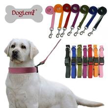 Plain Puppy Pet Dog Collar Set 7colors 4sizes Webbing Dog Collar Wholesale