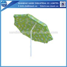 190T polyester promotional outdoor garden beach umbrella whole sale