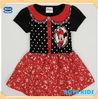 (H4930) BRW 6M-5Y Polka dot famous cartoon minnie print little kid dress