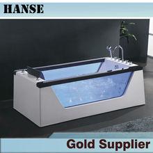 Acrylic transparent bathtub with glass bath tub HS-B292