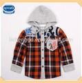 ( a3889) obw 18m-6y criança nova primavera inverno roupas de menino com capuz crianças camisa de seleção