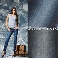 De algodón gata tela de mezclilla tela jeans para mujer pantalones apretados, pantalones pitillo, de la pluma