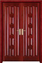 decorative filling with PU steel security door stylish factory