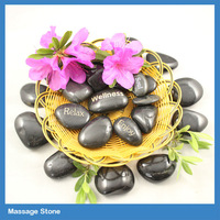 logo carved massage electric hot stone with heater/ hot stone massage set