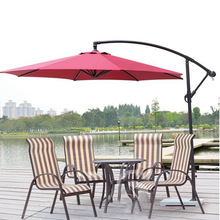 Guangzhou custom Aluminum pario high quality branded umbrellas