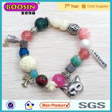 New Silver Charm Bead Bracelet Mask Silicone Shamballa Charm bracelet #31429