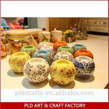 handmade glass candle holders, tea light holders, ball glass vase