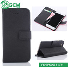 Mobile phone accessories case,wallet case stand pouch for iPhone 6 mobile flip cover