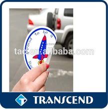 Custom pvc car window sticker, waterproof static cling stickers/high quality white static cling sticker