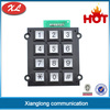 China Ningbo Xlong metal narutal silicone electroconductive rubber anti-destructive payphone/atm/industry phone number keypad