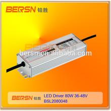 PHILIPS OEM Partner With CE.RoHs Constant DC Current 80W 36V 48VDC constant current output 36V 48V DC 80W led driver