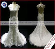 Vintage Lace Open Back Fishtail Wedding Dress BYB-14572