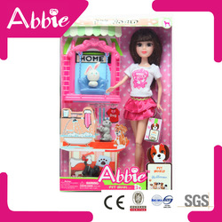 Ameican Beautiful Little Girl Doll Model with Cute Rabbit