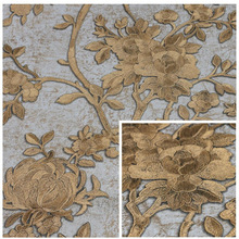 3d deep embossed wallpaper sale for home decoration