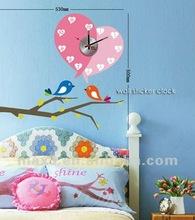 Wall Sticker Birds&Wall Sticker Sun&Wall Sticker Clock
