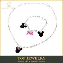alibaba wholesale disney infinity jewelry set ,Mickey and bracelet and necklace