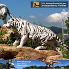 N-W-Y-468-white tiger statue theme park robotic animal