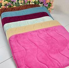 floor rubber mat polyester surface+ memory foam + latex backing/Memory foam bath mat_ Qinyi