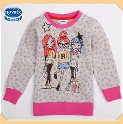 2014 Nova kids wear winter spring printed fashion girl long sleeve t-shirt (F4716)