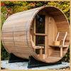 Hot selling outdoor sauna steam room,outdoor sauna rooms,outdoor wooden sauna barrel