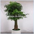 Sj artificial hecho a mano doblada de la planta, artificial de interior del árbol de dinero