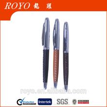 2014 new design metal leather pen L-015