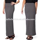 OEM factory new design stripe maxi long skirt for middle age women