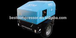 portable diesel air compressor 45kw 7bar