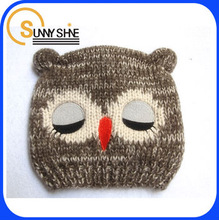 Sunny Shine custom 100% Acrylic children and baby OWL knitted hats
