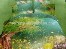 Landscape Amazing Nature 3D Bedding Set With Duvet Cover Plain Sheet And Pillowcases