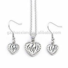 ERJS0131 eternal love heart shape custom women party jewelry set