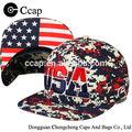 de alta calidad snapback hat cap con estados unidos 3d bordado de imagen