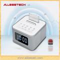 Teléfono móvil mini bluetooth de audio del altavoz de fm de radio con función de alarma del reloj( s1- bt)