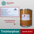 Trichlorphon 97% tc orgánicos de fósforo amoniocas. Los plaguicidas 52-68-6 trichlorphon